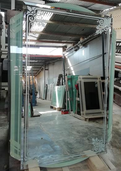 servicio de arenado de cristales y vidrios en general