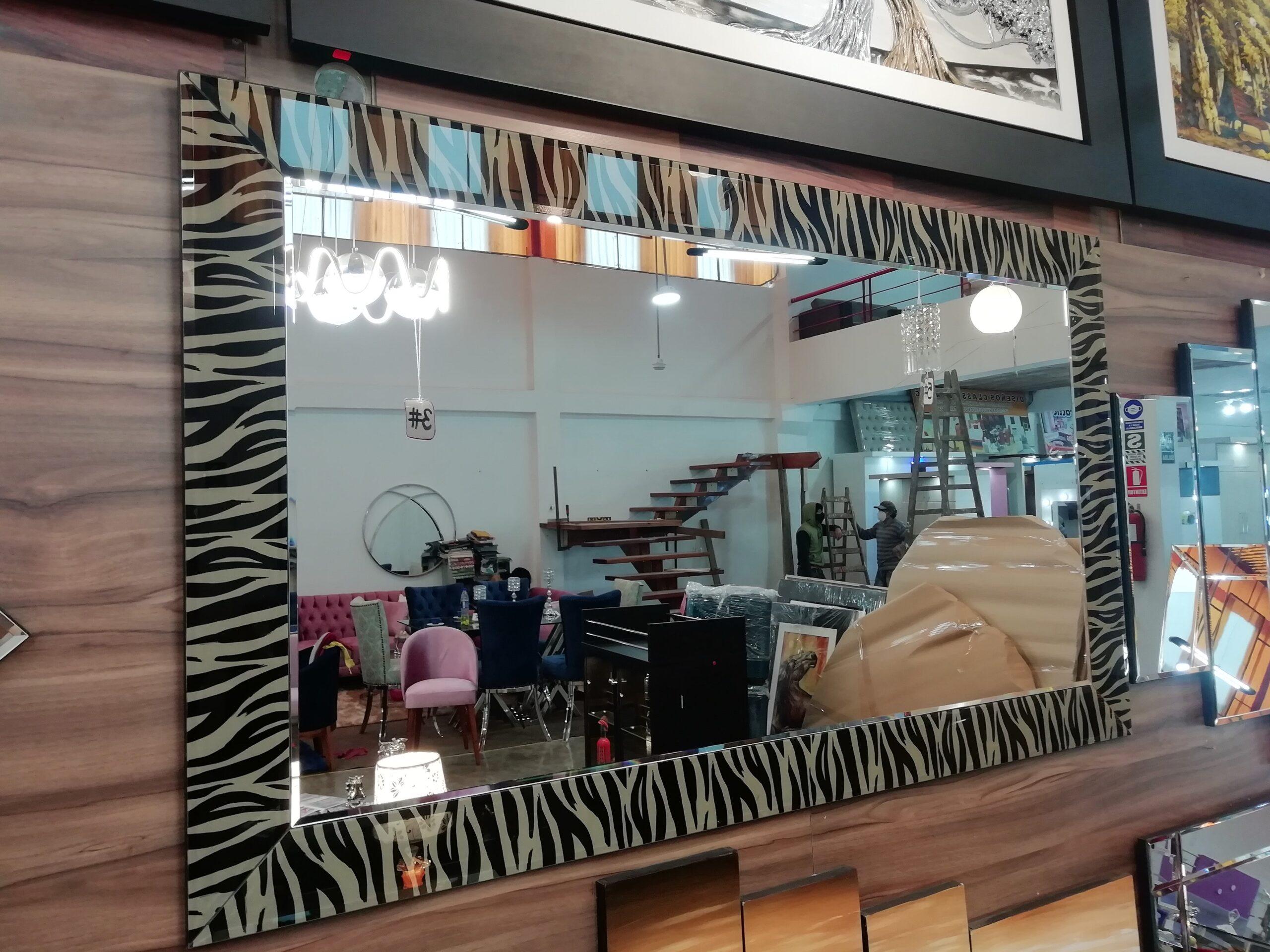 espejo decorativos marco atrigrado de espejo de sala