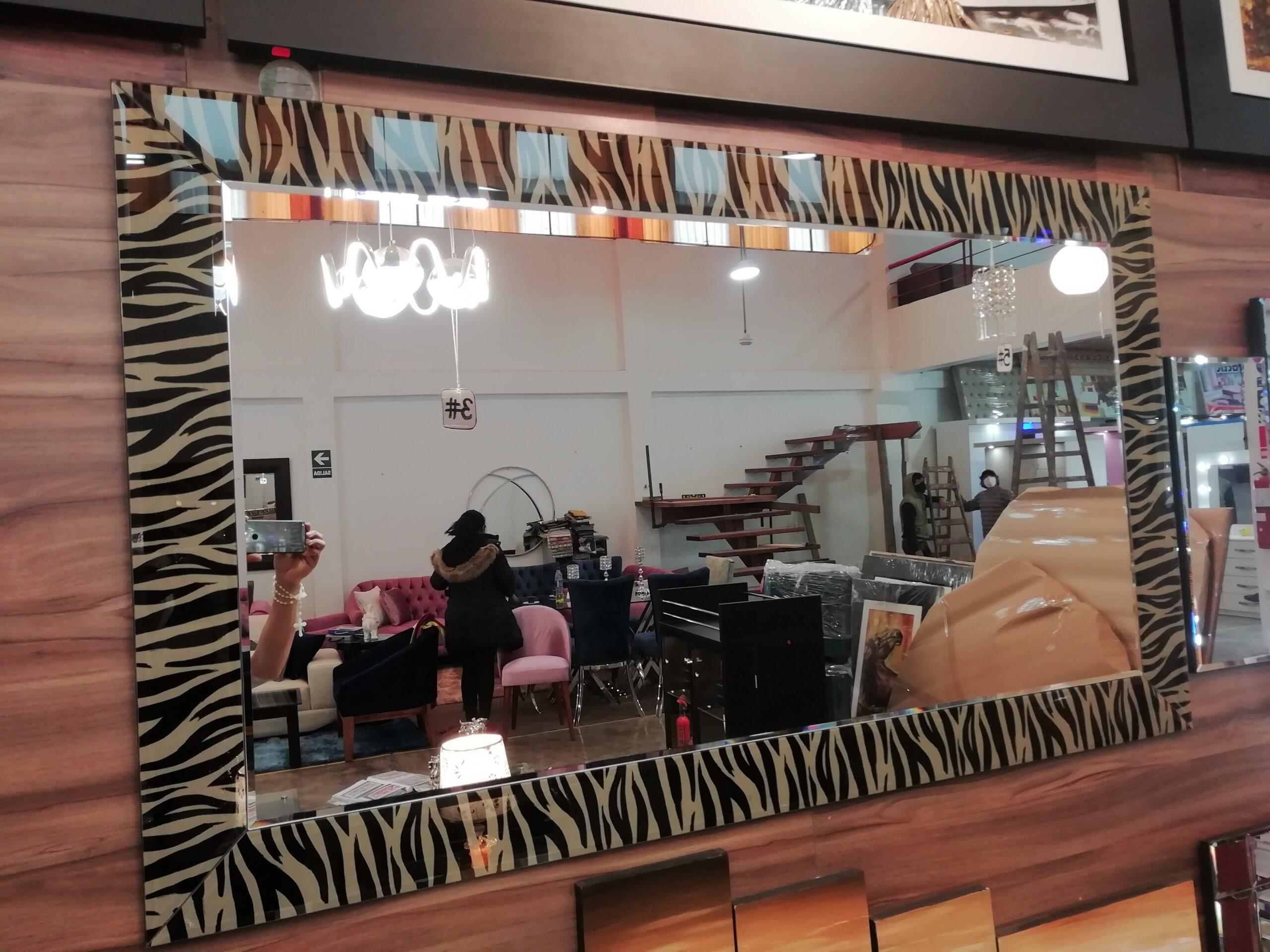espejos decorativos con marco atigrado