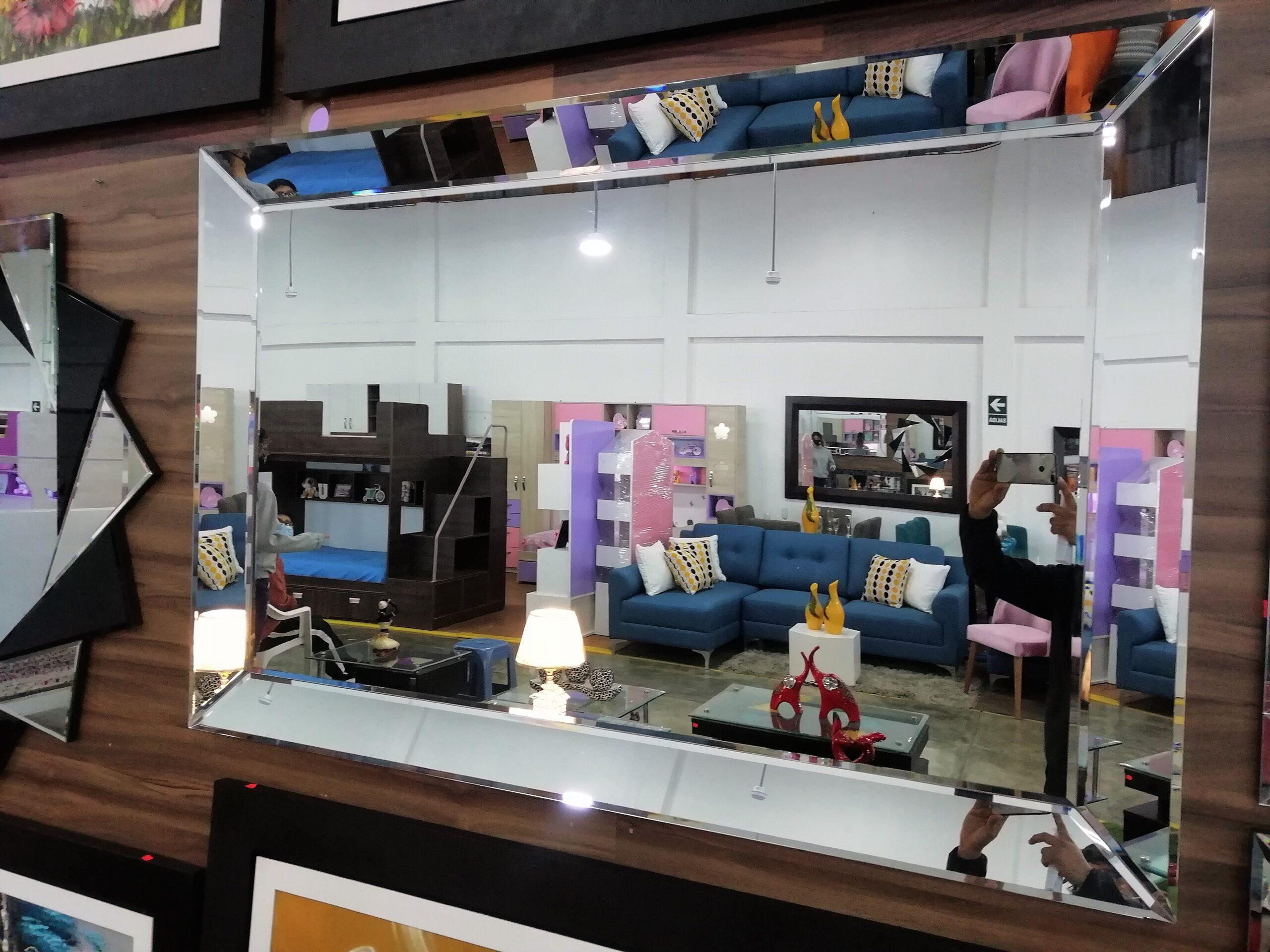 espejos decorativos con marco biselado