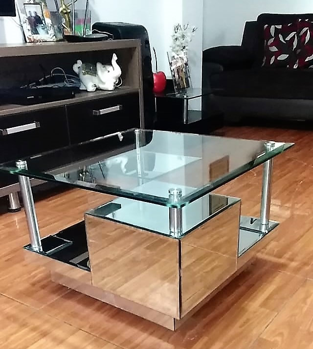 mesas de vidrio de centro